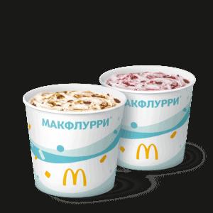 Сладкая пара Макфлурри Де Люкс Карамельно-Шоколадное